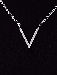 cheap -Women's Link / Chain Pendant Necklace / Necklace - Letter Simple, Sweet, Fashion Silver 40 cm Necklace 1pc For School, Date