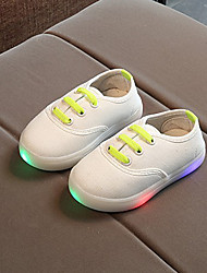 preiswerte -Jungen / Mädchen Schuhe Leinwand Frühling & Herbst Komfort / Leuchtende LED-Schuhe Outdoor Schnürsenkel / LED für Kinder / Baby Schwarz / Blau / Rosa