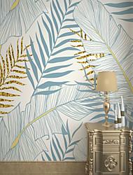 abordables -fond d'écran / Mural Toile Revêtement - adhésif requis Arbres / Feuilles / Carreau vernisé / Motif
