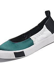 povoljno -Žene Cipele PU Ljeto Udobne cipele Ravne cipele Ravna potpetica Okrugli Toe Crvena / Zelen