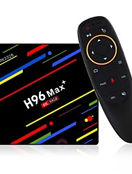 abordables -H96 Max 4G+64G Box TV / Air Mouse Android 8.1 Box TV / Air Mouse RK3328 4GB RAM 64GB ROM Huit Cœurs Commande Vocale