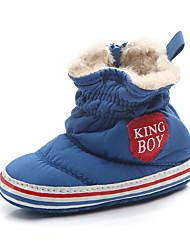 Недорогие -Мальчики Обувь Хлопок Наступила зима Обувь для малышей Ботинки для Дети Черный / Серый / Синий / Контрастных цветов