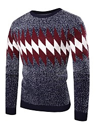 cheap -Men's Basic / Exaggerated Pullover - Striped