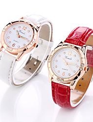 baratos -Mulheres Relógio de Pulso Quartzo Relógio Casual Couro Banda Analógico Fashion Elegante Preta / Branco / Vermelho - Preto Vermelho Rosa claro
