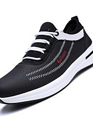 levne -Pánské Komfortní boty PU Podzim Atletické boty Běh Barevné bloky Bílá / Černá