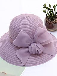 abordables -Paille Chapeaux avec Noeud 1pc Mariage / Fête / Soirée Casque