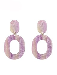 cheap -Women's Stylish Drop Earrings - Geometric Light Purple / Light Blue For Gift / Daily