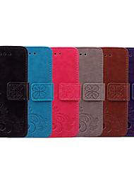 Недорогие -Кейс для Назначение Nokia Nokia 3 Бумажник для карт / Флип Чехол Однотонный / Мандала Мягкий Кожа PU для Nokia 3