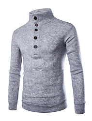 billige -Herre Basale / Gade Pullover - Ensfarvet