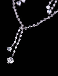 cheap -Women's Cubic Zirconia Stylish Jewelry Set - Fashion Include Drop Earrings / Pendant Necklace White For Wedding / Party