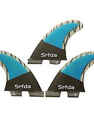 economico -Srfda Pinne da surf Fibra di vetro Rilascio rapido - Tavola da surf SUP / Tavole longboard / Tavole da surf 3 pcs
