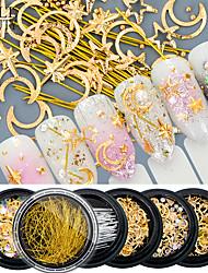cheap -1 / box Fashionable Design / Luminous Vintage Theme Jewelry Series nail art Manicure Pedicure Acrylic / Alloy Glitters / Retro Wedding Party / Daily Wear