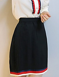 baratos -mulheres acima do joelho uma linha de saias - bloco de cor