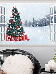 Недорогие -Декоративные наклейки на стены - 3D наклейки / Праздник стены стикеры Рождество / Цветочные мотивы / ботанический Гостиная / Детская