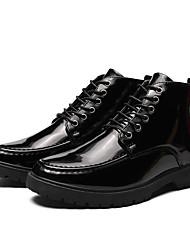 Недорогие -Муж. Армейские ботинки Полиуретан Осень На каждый день / Английский Ботинки Массаж Черный