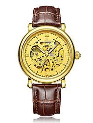 Недорогие -Муж. Нарядные часы Механические часы Кварцевый 100 m Защита от влаги Календарь Фосфоресцирующий Натуральная кожа Группа Аналоговый На каждый день Мода Черный / Синий / Коричневый -