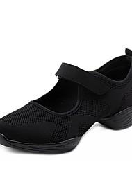 Недорогие -Жен. Танцевальные кроссовки Трикотаж На каблуках Толстая каблук Персонализируемая Танцевальная обувь Белый / Черный