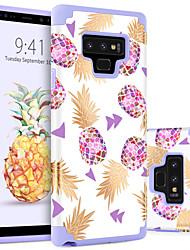 Недорогие -BENTOBEN Кейс для Назначение SSamsung Galaxy Note 9 Защита от удара / С узором Кейс на заднюю панель Фрукты Твердый ПК для Note 9