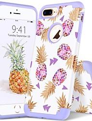 billiga -BENTOBEN fodral Till Apple iPhone 8 Plus / iPhone 7 Plus Stötsäker / IMD / Mönster Skal Växter / Linjer / vågor / Frukt Mjukt PC / Kiselgel för iPhone 8 Plus / iPhone 7 Plus