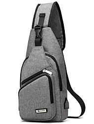 Недорогие -Муж. Молнии Нейлон Слинг сумки на ремне Сплошной цвет Темно-синий / Лиловый / Светло-серый