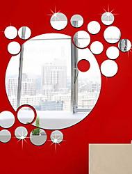 Недорогие -Декоративные наклейки на стены - Зеркальные стикеры Геометрия Спальня