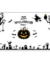 Недорогие -Декоративные наклейки на стены - Простые наклейки / Праздник стены стикеры Halloween / Праздник Детская