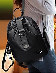 お買い得  -女性用 バッグ PU バックパック ジッパー ブラック / ワイン