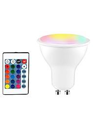 abordables -1pc 5 W 350 lm GU10 / E26 / E27 Spot LED 3 Perles LED SMD 5050 Elégant / Intensité Réglable / Commandée à Distance RGBW 85-265 V