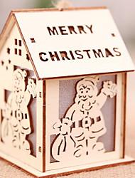 Недорогие -Декоративное освещение Новогодняя тематика деревянный Оригинальные Рождественские украшения