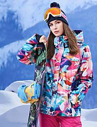 Недорогие -GSOU SNOW Жен. Лыжная куртка С защитой от ветра, Водонепроницаемость, Сохраняет тепло Катание на лыжах / Зимние виды спорта 100% полиэстер Зимняя куртка / Верхняя часть Одежда для катания на лыжах