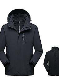 Недорогие -Муж. толстовка с капюшоном куртки Куртки 3-в-1 Куртка для туризма и прогулок на открытом воздухе Осень Весна С защитой от ветра Дышащий Дожденепроницаемый Износостойкость Куртки 3-в-1 Верхняя часть