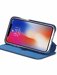billiga -fodral Till Apple iPhone XR / iPhone XS Max Plånbok / Korthållare / Stötsäker Fodral Enfärgad Hårt PU läder för iPhone XS / iPhone XR / iPhone XS Max