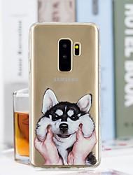 baratos -Capinha Para Samsung Galaxy S9 Plus / S9 Transparente / Estampada Capa traseira Cachorro Macia TPU para S9 / S9 Plus / S8 Plus