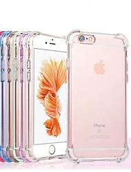 Недорогие -Кейс для Назначение Apple iPhone X / iPhone 7 Plus Защита от удара / Прозрачный Кейс на заднюю панель Однотонный Мягкий ТПУ для iPhone X / iPhone 8 Pluss / iPhone 8