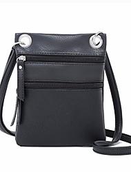 baratos -Mulheres Bolsas PU Telefone Móvel Bag Ziper Rosa / Bege / Café