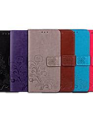 Недорогие -Кейс для Назначение Nokia Nokia 2.1 Бумажник для карт / Флип Чехол Однотонный / Мандала Мягкий Кожа PU для Nokia 2.1