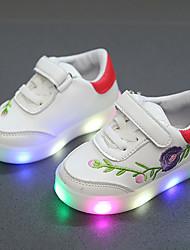 billiga -Pojkar / Flickor Skor PU Vår & Höst Komfort / Lysande skor Sneakers Krok och ögla / LED för Barn / Småbarn Svart / Röd / Grön