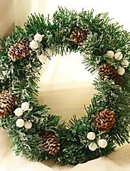 Недорогие -Рождественские украшения Праздник PVC Круглый Для вечеринок / Оригинальные Рождественские украшения