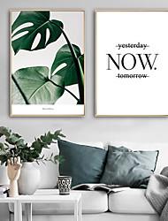 Недорогие -Холст в раме / Набор в раме - ботанический / Цветочные мотивы / ботанический Пластик Иллюстрации