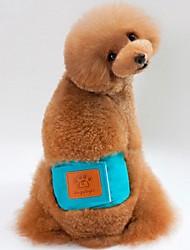 Недорогие -Собаки / Коты Брюки Одежда для собак Однотонный Зеленый / Синий / Розовый Хлопок Костюм Для домашних животных Мужской Уникальный дизайн