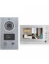 abordables -ACTOP VDP-313+CAM-205A Câblé 7 pouce Système Mains-Libres 960 * 640 Pixel interphone vidéo