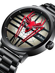 Недорогие -Муж. Спортивные часы Наручные часы Японский Японский кварц 30 m Повседневные часы Cool Нержавеющая сталь Группа Аналоговый Роскошь Мода Черный - Черный Красный Один год Срок службы батареи