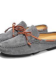 Недорогие -Муж. Комфортная обувь Кожа Лето На каждый день Башмаки и босоножки Черный / Серый / Хаки
