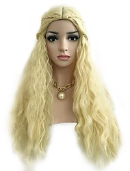 Недорогие -Парики из искусственных волос Жен. Волнистый Блондинка Стрижка боб Искусственные волосы 30 дюймовый Для вечеринок / Классический / Женский Блондинка Парик Длинные Без шапочки-основы Блондинка