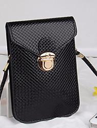 abordables -Femme Sacs PU Mobile Bag Phone Boutons Noir / Rouge / Argent