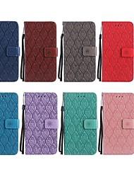 baratos -Capinha Para Huawei P smart / Honor 10 Carteira / Porta-Cartão / Com Suporte Capa Proteção Completa Flor Rígida PU Leather para P smart / Huawei Honor 10 / Honor 9