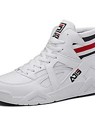 Недорогие -Муж. Комфортная обувь Полотно Осень На каждый день Кеды Доказательство износа Белый / Черный