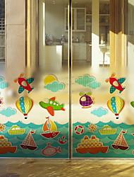 cheap -Window Film & Stickers Decoration Ordinary Character PVC(PolyVinyl Chloride) Window Sticker