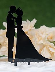ราคาถูก -อุปกรณ์แต่งหน้าเค้ก ธีมคลาสสิก / การแต่งงาน ตัดออก อคริลิค / โพลีเอสเตอร์ งานแต่งงาน / วันครบรอบ กับ อคริลิค 1 pcs PVC Bag