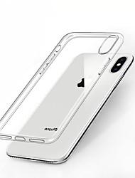 Недорогие -CARVE Кейс для Назначение Apple iPhone XR / iPhone XS Max Защита от удара / Прозрачный Кейс на заднюю панель Однотонный Мягкий ТПУ для iPhone XS / iPhone XR / iPhone XS Max
